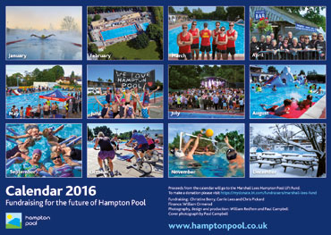 Hampton Pool Calendar 2016 Back Cover