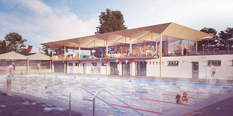 Where can learn to swim in london