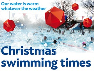 Christmas swimming times