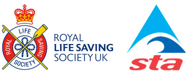 The Royal Lifesaving Institute and STA logos